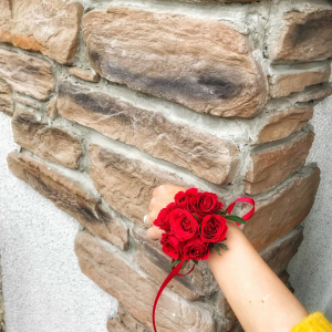 купить браслет из живых цветов в минске