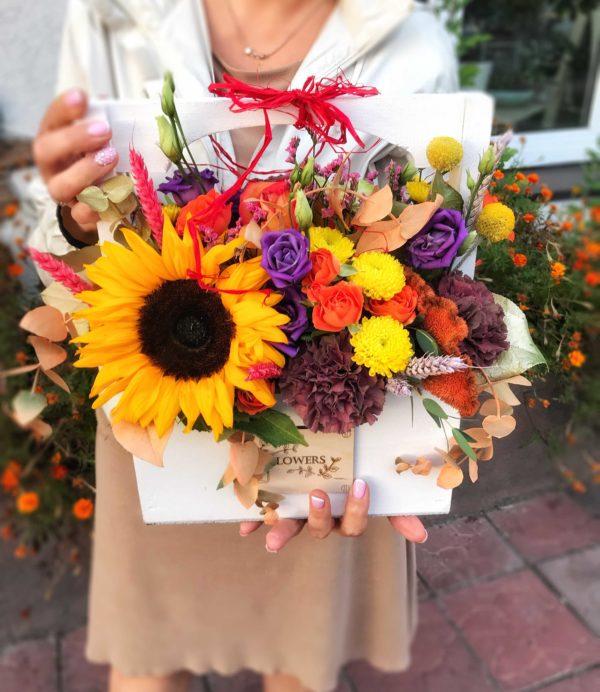 купить коробку с цветами в минске