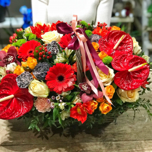 корзина с цветами минск