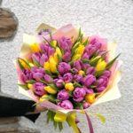 Букет из тюльпанов 51 шт