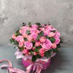 Коробка пионовидных роз