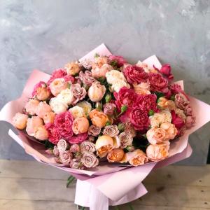 заказать букет пионовидных роз в минске