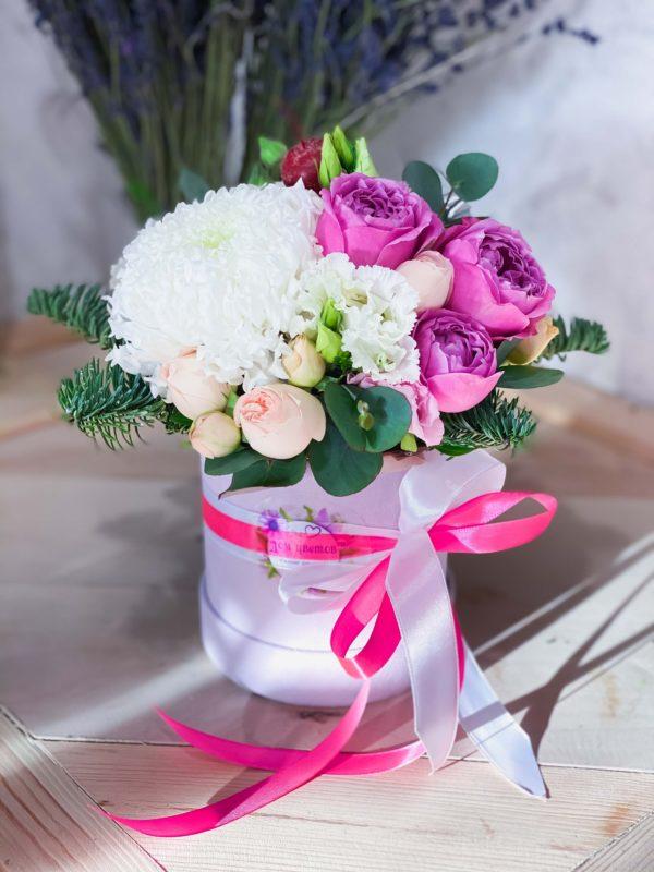 заказать коробку с цветами минск