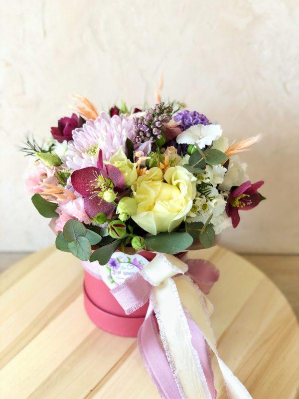коробка с цветами минск