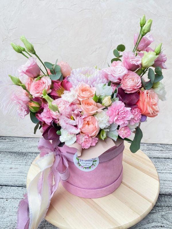 заказать цветы в коробке