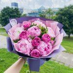Букет с пионами и пионовидными розами №4