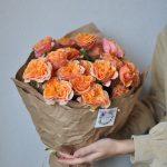 Монобукет из пионовидных роз «Соус Парк»