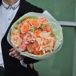 Букет «Персиковый десерт»