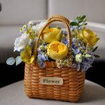 Корзина с цветами «Лимонад»