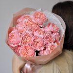 Монобукет из пионовидных роз «Джульетта»